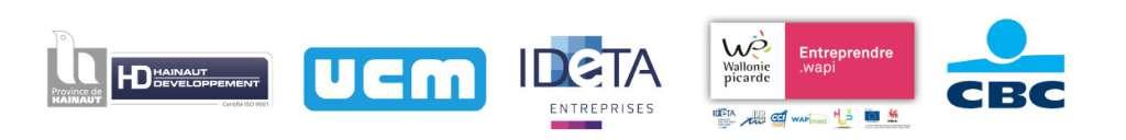 Google, UCM, IDETA, Entreprendre.Wapi, CBC Banque et Hainaut Développement