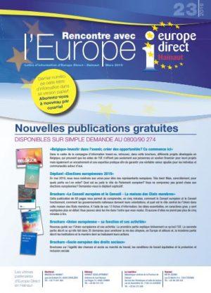 Lettre d'information : Rencontre avec l'EUROPE n°23