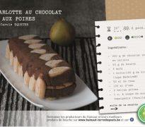 Charlotte au chocolat et aux poires