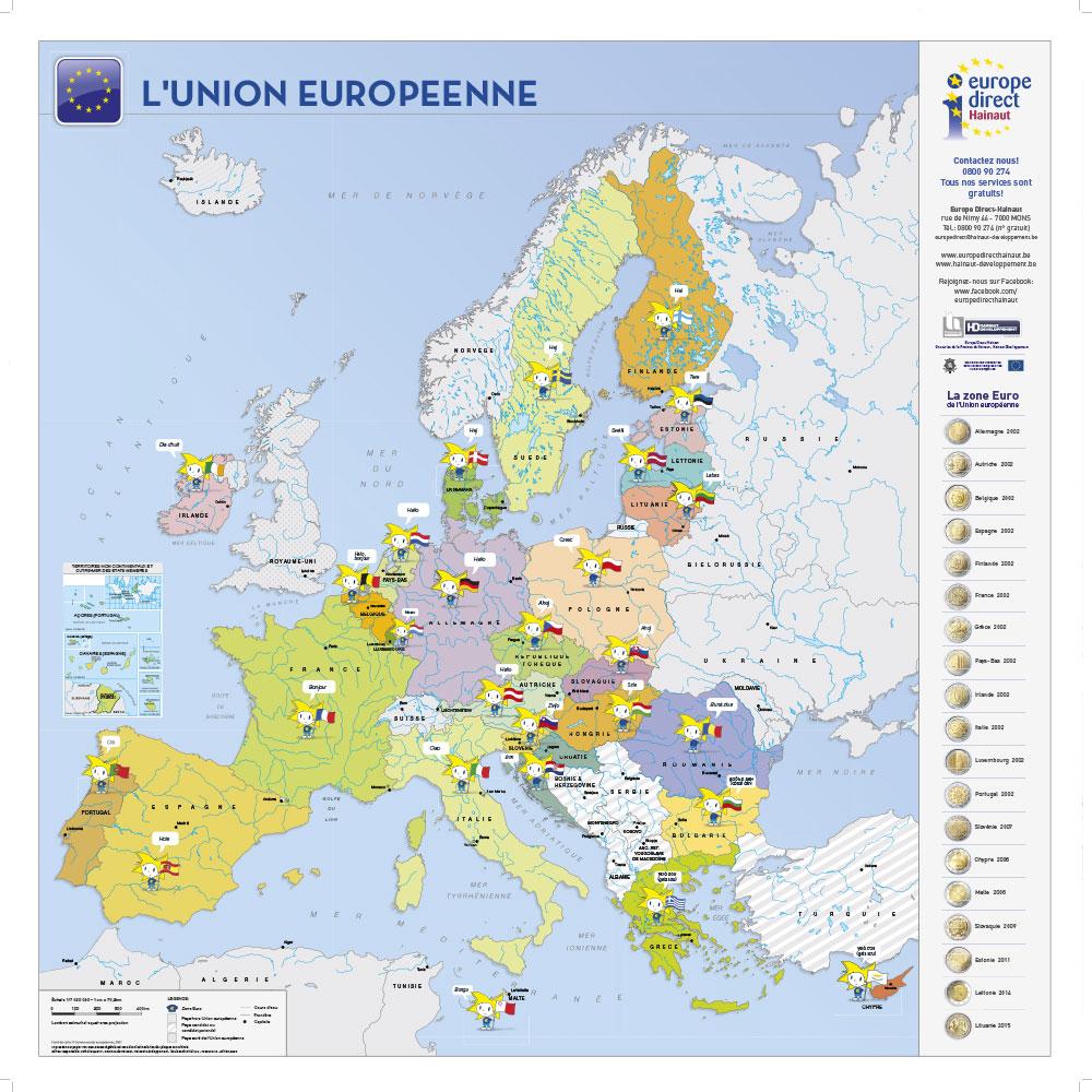 Poster carte UE